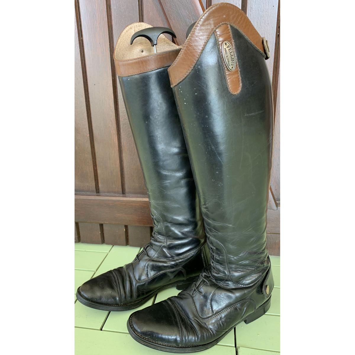 bottes equitation cuir fellini