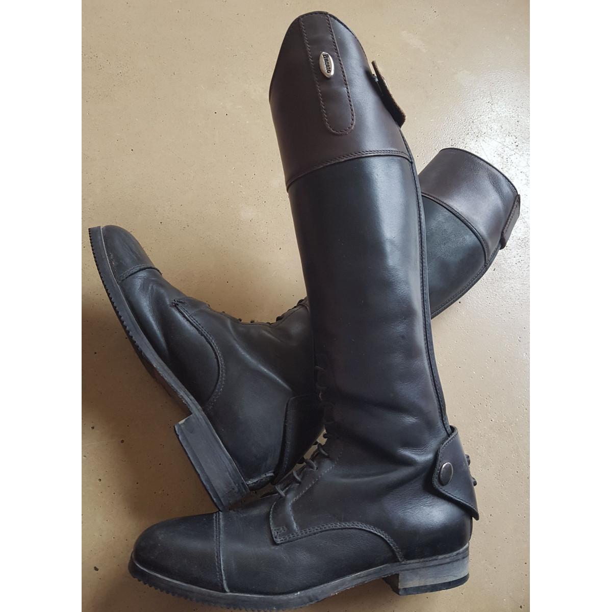 Bottes BUSATO cuir noir